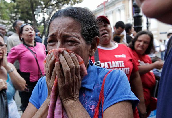 (تصاویر) سوگواران هوگو چاوز در ونزوئلا