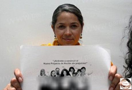 خانمی که برای ورود به مجلس عکسهای برهنه خود را منتشر کرد +عکس