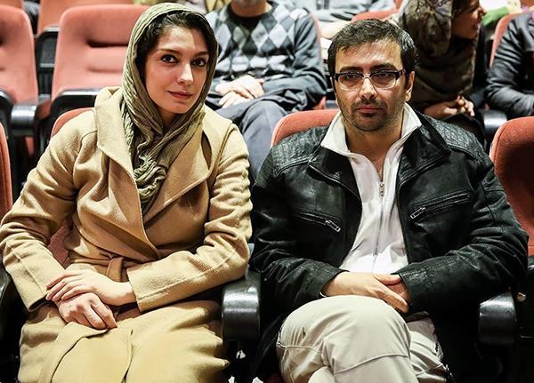 عکس امین زندگانی در کنار همسرش