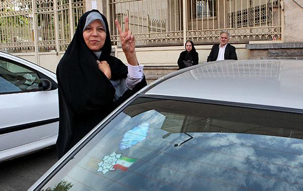 (تصاویر) خودروی فائزه هاشمی