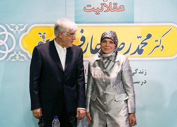 64212 862 - (تصاویر) عارف و همسرش در نشست خبری