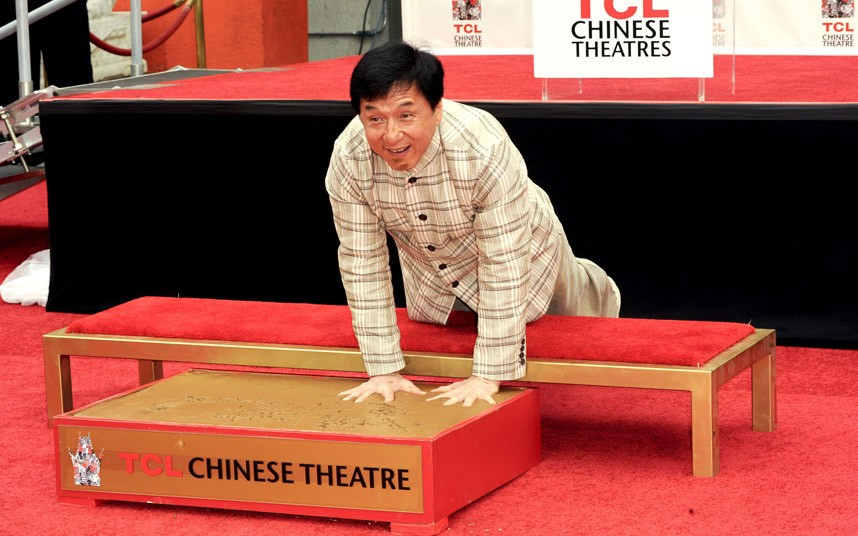 Imprints of Jackie Chan.