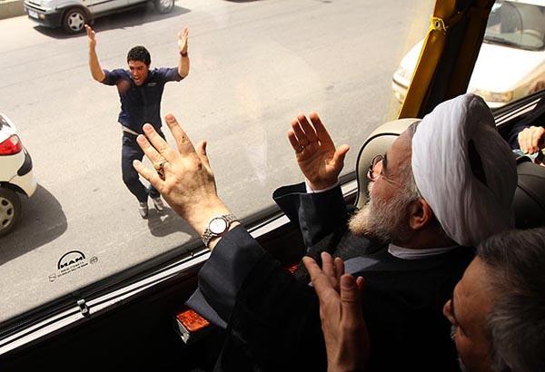 69644 905  (تصاویر) روحانی در ارومیه و تبریز