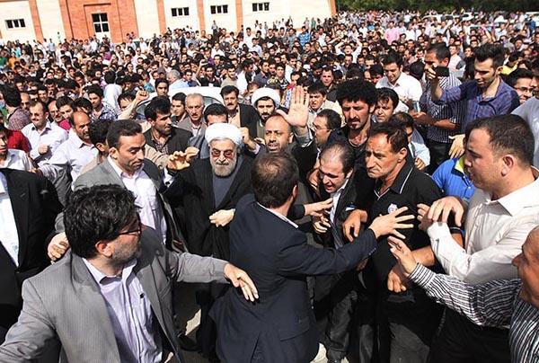 69645 410  (تصاویر) روحانی در ارومیه و تبریز