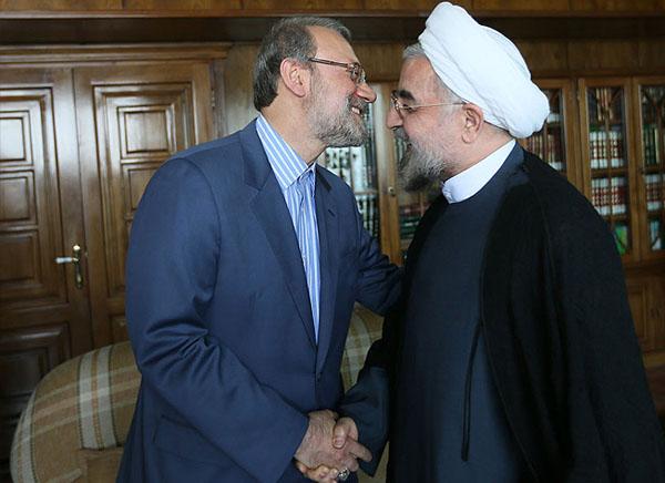 70972 202  (تصاویر) حسن روحانی در دیدار با لاریجانی