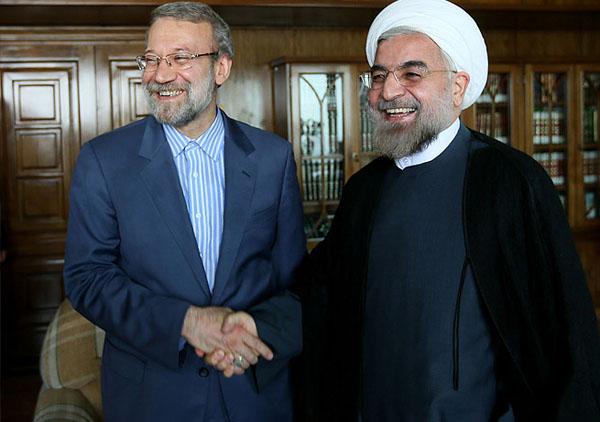 70973 712  (تصاویر) حسن روحانی در دیدار با لاریجانی