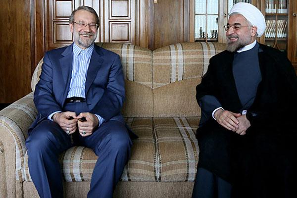 70974 889  (تصاویر) حسن روحانی در دیدار با لاریجانی