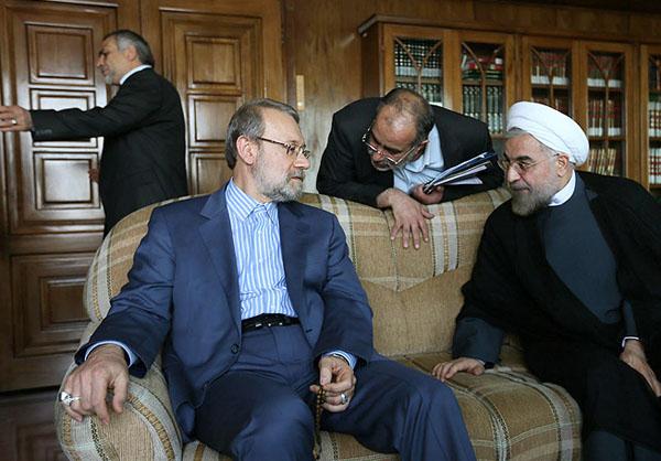70975 909  (تصاویر) حسن روحانی در دیدار با لاریجانی