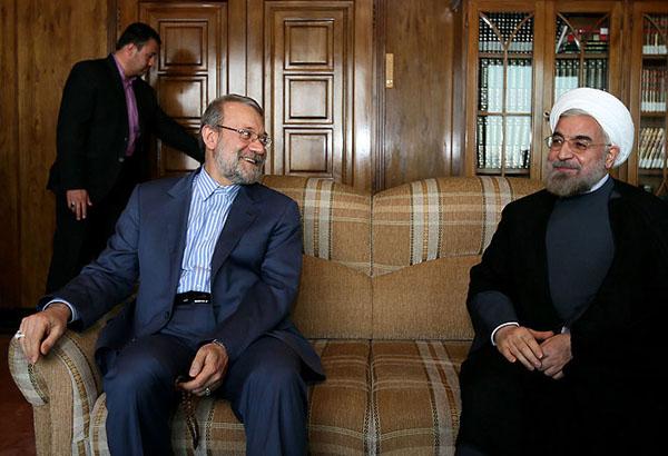 70976 144  (تصاویر) حسن روحانی در دیدار با لاریجانی