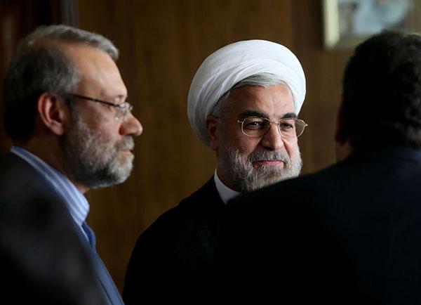 70977 163  (تصاویر) حسن روحانی در دیدار با لاریجانی