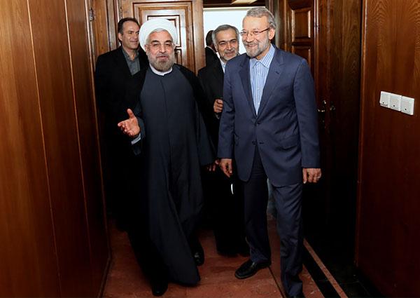 70978 463  (تصاویر) حسن روحانی در دیدار با لاریجانی