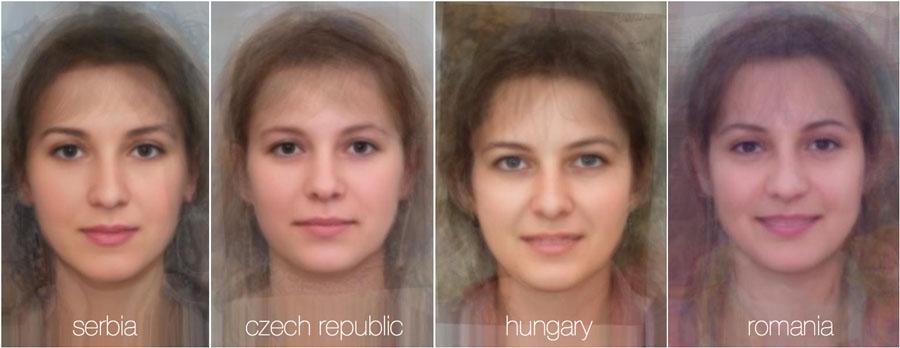 73782 931 - تصاویر: مقایسه چهره زنان در 38 کشور جهان