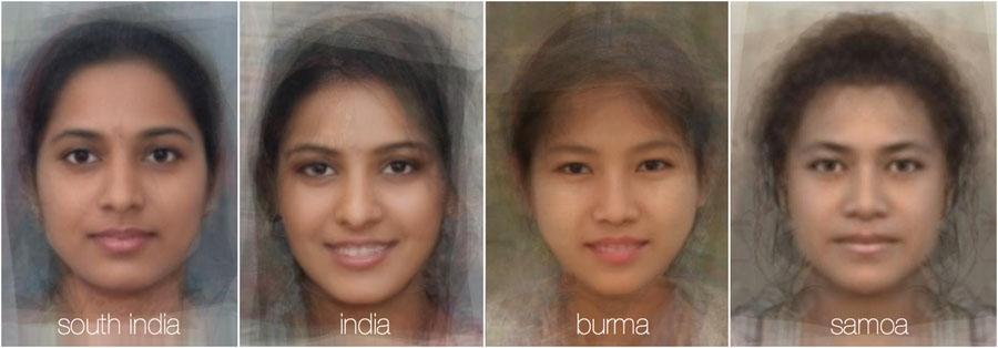 73783 951 - تصاویر: مقایسه چهره زنان در 38 کشور جهان