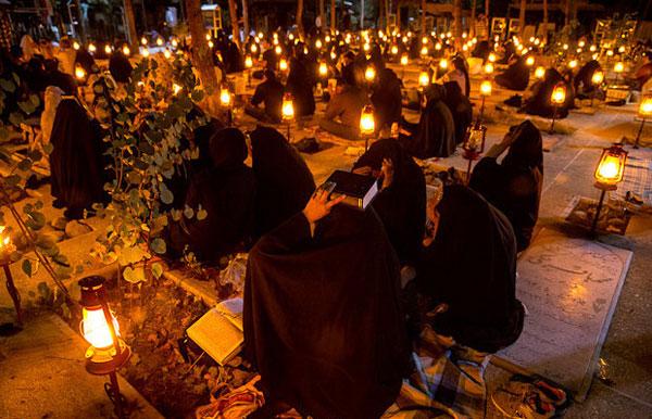 (تصاویر) مراسم احیای شب نوزدهم