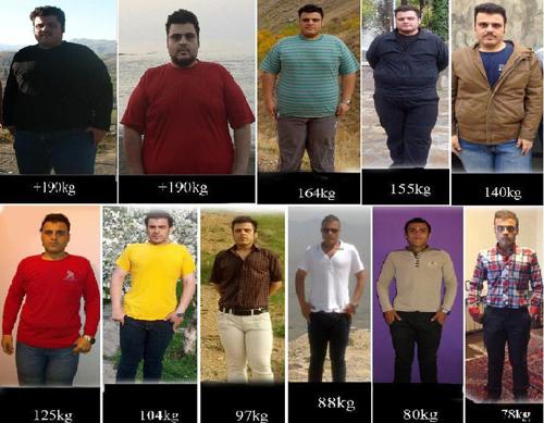 کاهش وزن 117 کیلوگرمی+عکس