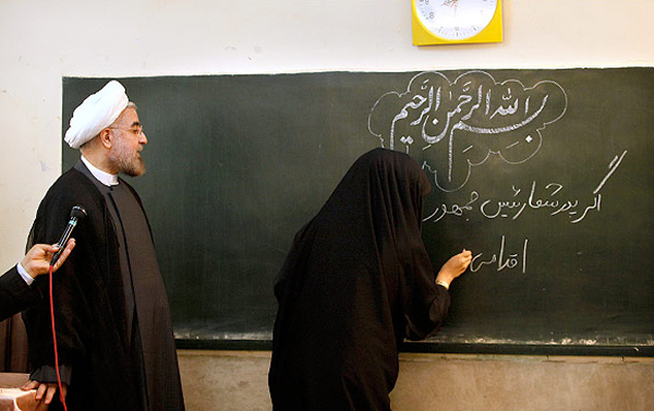 روحانی در مراسم بازگشایی مدارس