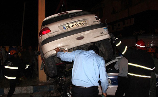 عکس تصادف سنندج