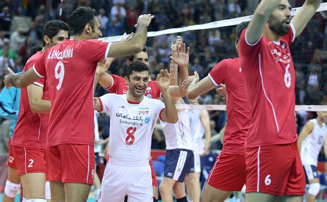 پیروزی والیبال ایران بر امریکا