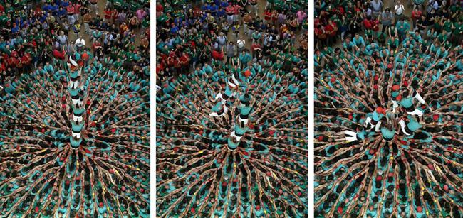 برج های انسانی,فستیوال برج انسانی در اسپپانیا