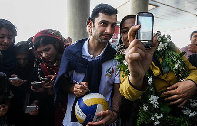 همسر والیبالیست ها عکس والیبالیستها تیم ملی والیبال اخبار والیبال