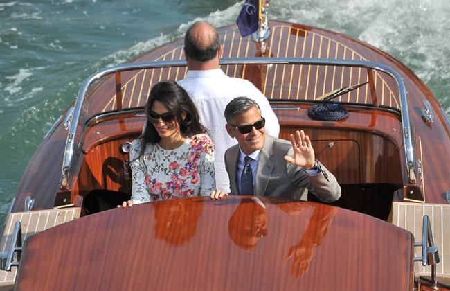 جرج کلونی و همسرش پس از ازدواج