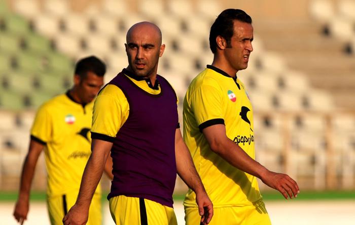 (تصاویر) کریمی و فردوسیپور در تمرین ستارگان