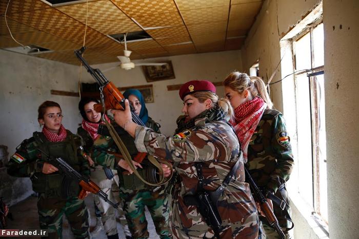 (تصاویر) دختران کماندوی ایزدی