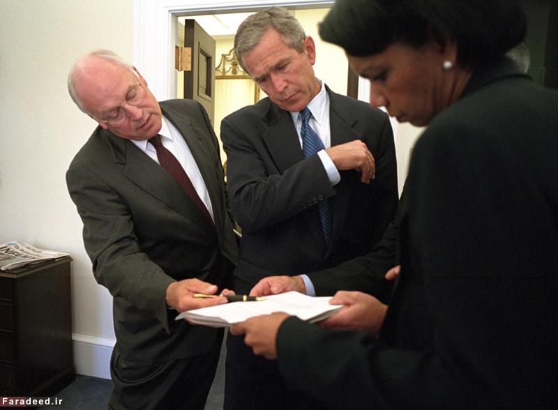 (تصاویر) آلبوم دیده نشده از بوش لحظاتی پس از 11 سپتامبر