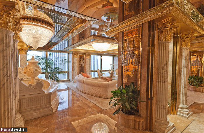 (تصاویر) پنتهاوس 100میلیونی ترامپ در منهتن