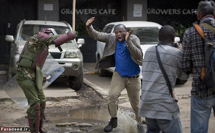 (تصاویر) خشونت کمسابقه پلیس کنیا علیه معترضان