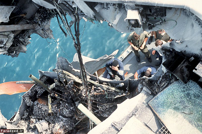 (تصاویر) حمله اشتباهی جنگنده عراقی به ناو امریکا