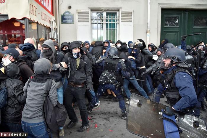 (تصاویر) پاریس دوباره به آشوب کشیدهشد