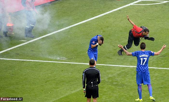 (تصاویر) آشوب هواداران کرواسی در ورزشگاه