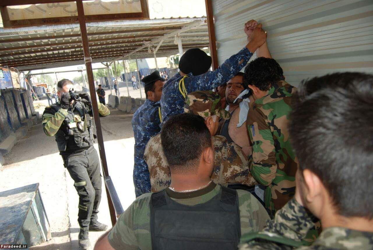 (تصاویر) دستگیری عامل انتحاری پیش از عملیات