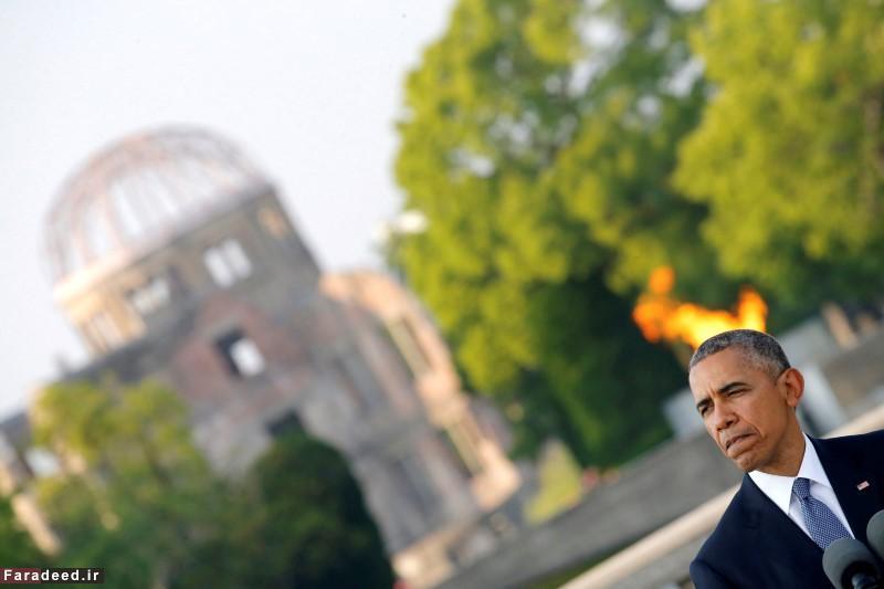 سخنرانی اوباما در محل بمباران اتمی هیروشیما