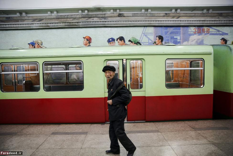 (تصاویر) در مترو پیونگیانگ چه خبر است؟