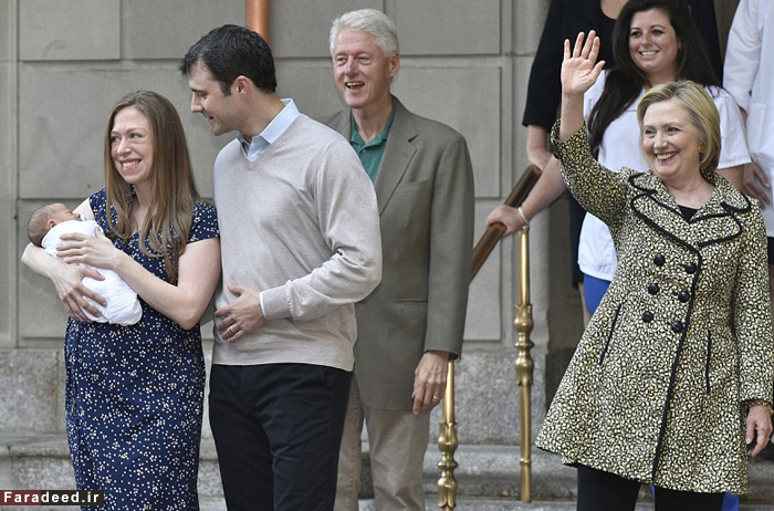 (تصاویر) کلینتون نوهدار شد