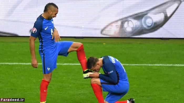 (تصاویر) پایان رویای ایسلند با گلباران فرانسه