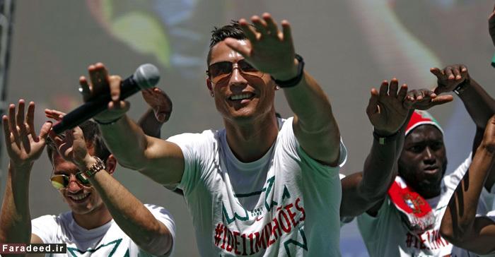 (تصاویر) استقبال پرشور از رونالدو و یارانش