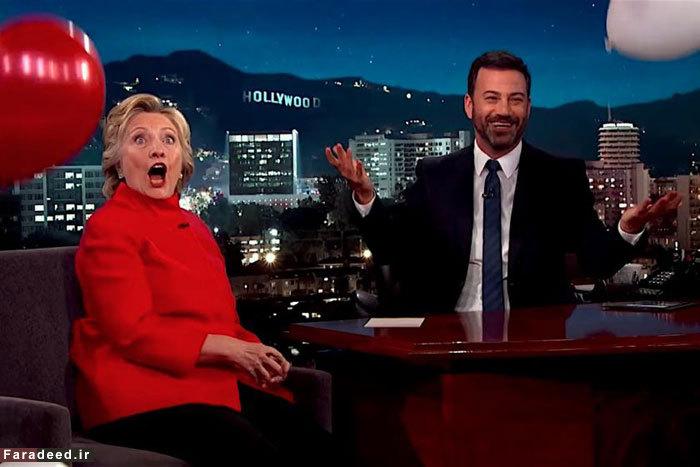 (تصاویر) تست سلامتی کلینتون با در خیارشور!