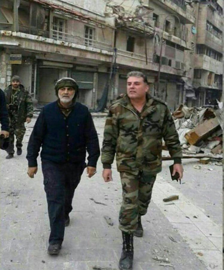 سردار قاسم سلیمانی را در حلب ببینید