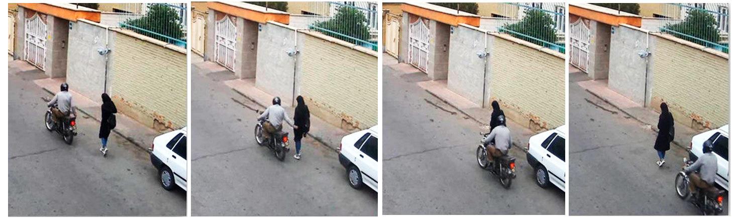 (تصاویر) لحظه حمله به یک دختر با شی نوک تیز در تهران!