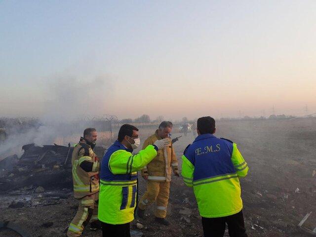 سقوط هواپیمای بوئینگ 737 مسافری اوکراینی در حوالی پرند