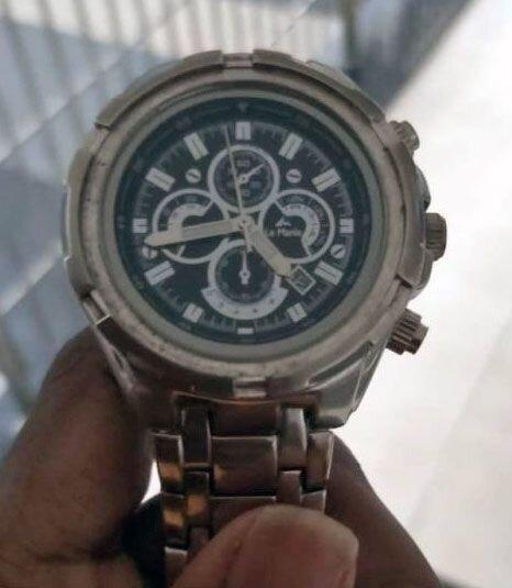 (عکس) ساعت مچی که باعث شکست شد!