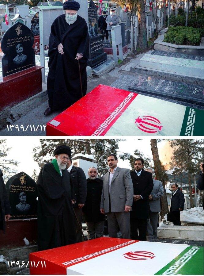 (تصویر) مقایسه دو تصویر متفاوت از رهبر انقلاب