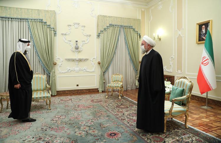 وزیر خارجه قطر با روحانی دیدار کرد