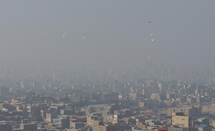 شاخص کیفیت هوای تهران امروز چهارشنبه ۸ بهمن ۹۹؛ تداوم آلودگی هوای پایتخت