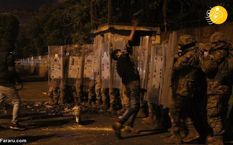 (تصاویر) آشوب شبانه در لبنان در اعتراض به وضعیت اقتصادی