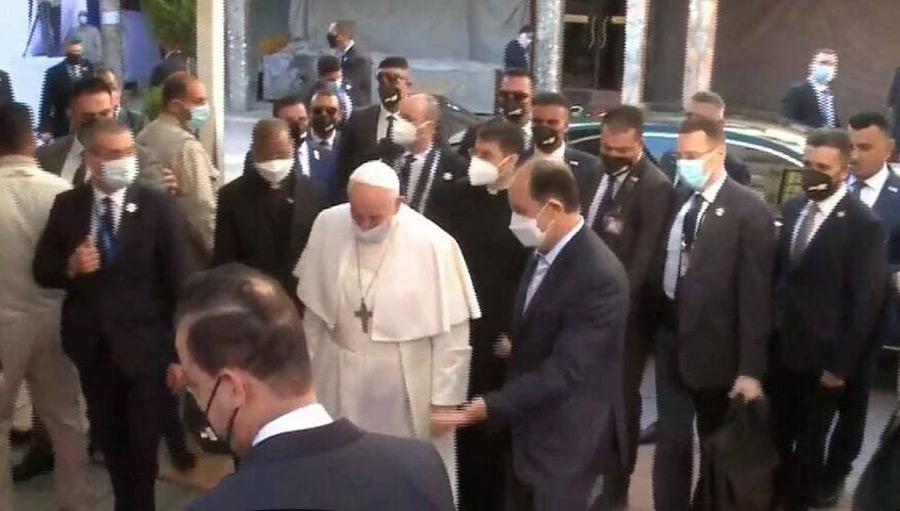 (تصاویر) دیدار پاپ با آیتالله سیستانی