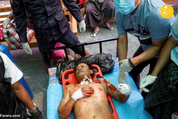 (تصاویر) یکشنبه خونین میانمار